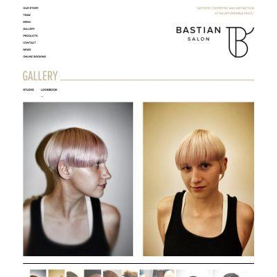 Bastian Salon - Lookbook - PSD to WordPress
