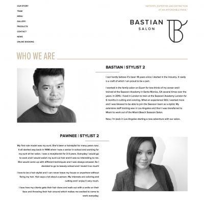 Team - Bastian Salon - PSD to WordPress