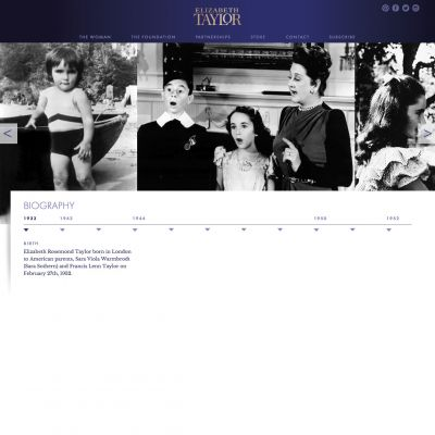 Interactive Timeline - Elizabeth Taylor - PSD to WordPress