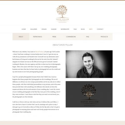 David Pullum - About - PSD to WordPress