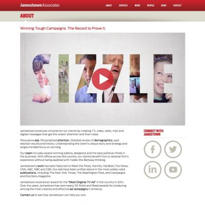 Jamestown Associates - About - PSD to WordPress