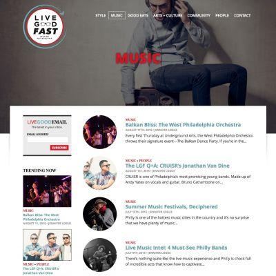 LiveGoodFast - Category - PSD to WordPress