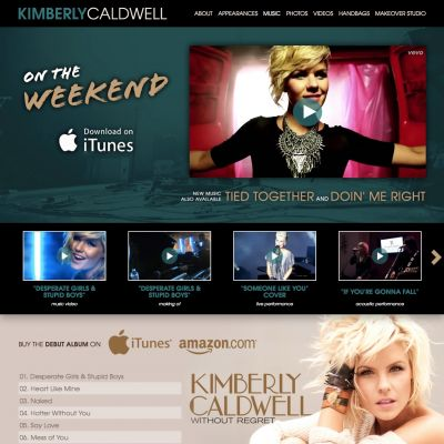 Music - Kimberly Caldwell - Custom WordPress Design