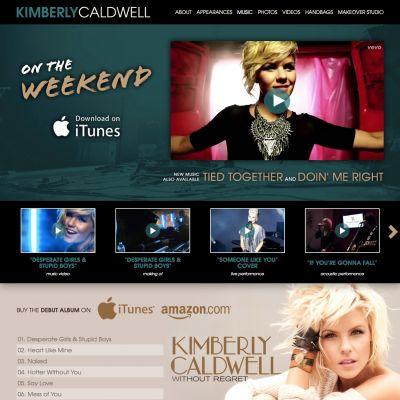 Music - Kimberly Caldwell - Custom WordPress Design