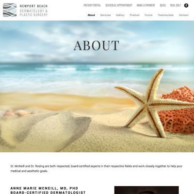 Newport Beach Dermatology & Plastic Surgery PSD to WordPress