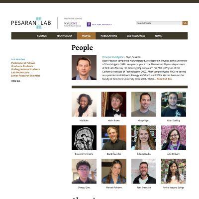 Pesaran Lab - People - PSD to WordPress