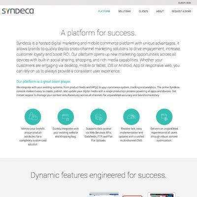Syndeca - Platform - PSD to WordPress