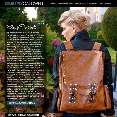 Handbags - Kimberly Caldwell - Custom WordPress Design