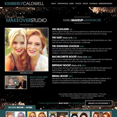 Makeover Studio - Kimberly Caldwell - Custom WordPress Design