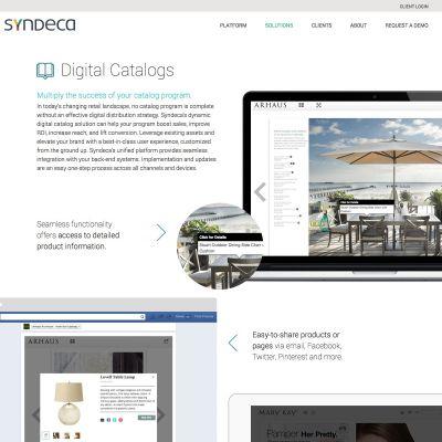 Syndeca - Digital Catalogs - PSD to WordPress