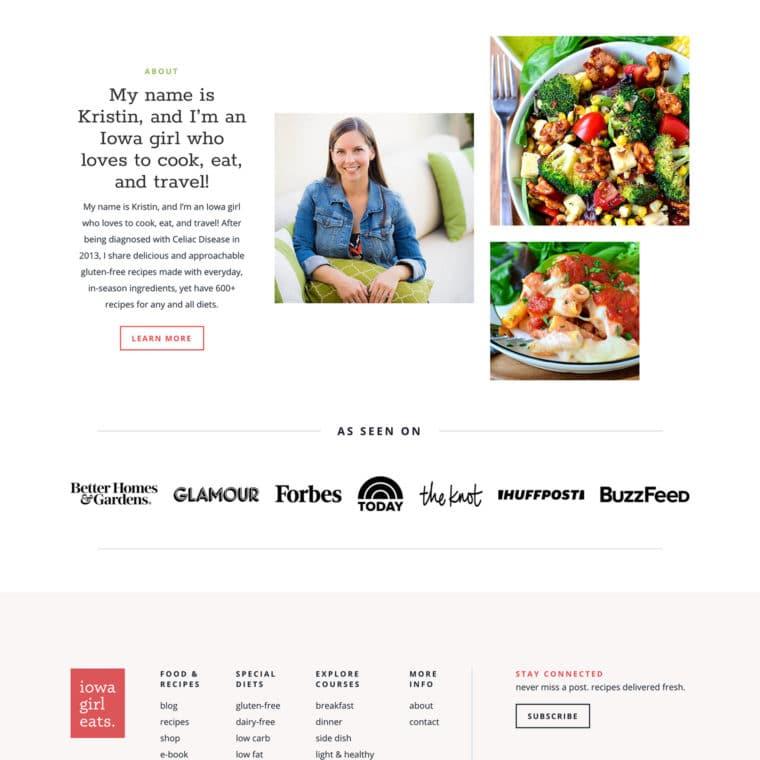 Iowa Girl Eats homepage screenshot