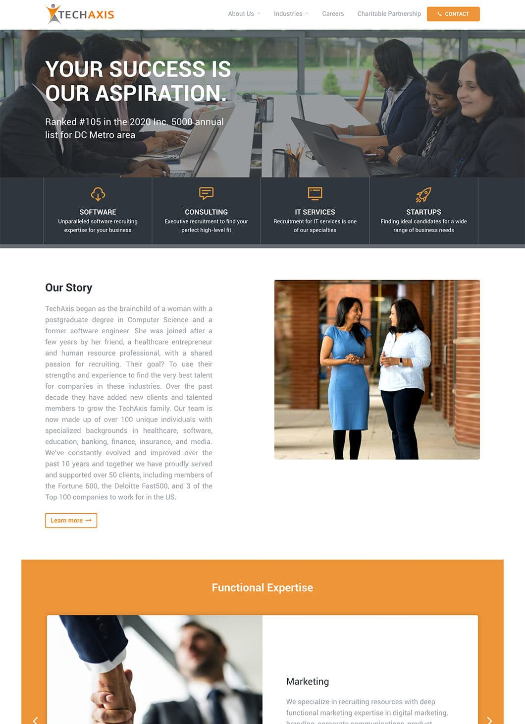 Screenshot of Techaxis Homepage