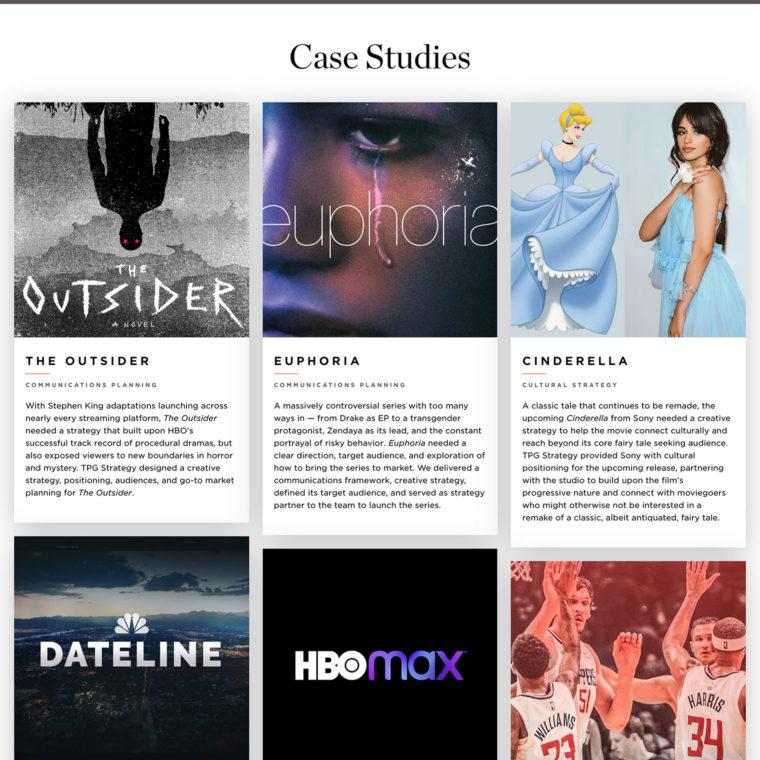 Trailer Park Group case studies screenshot