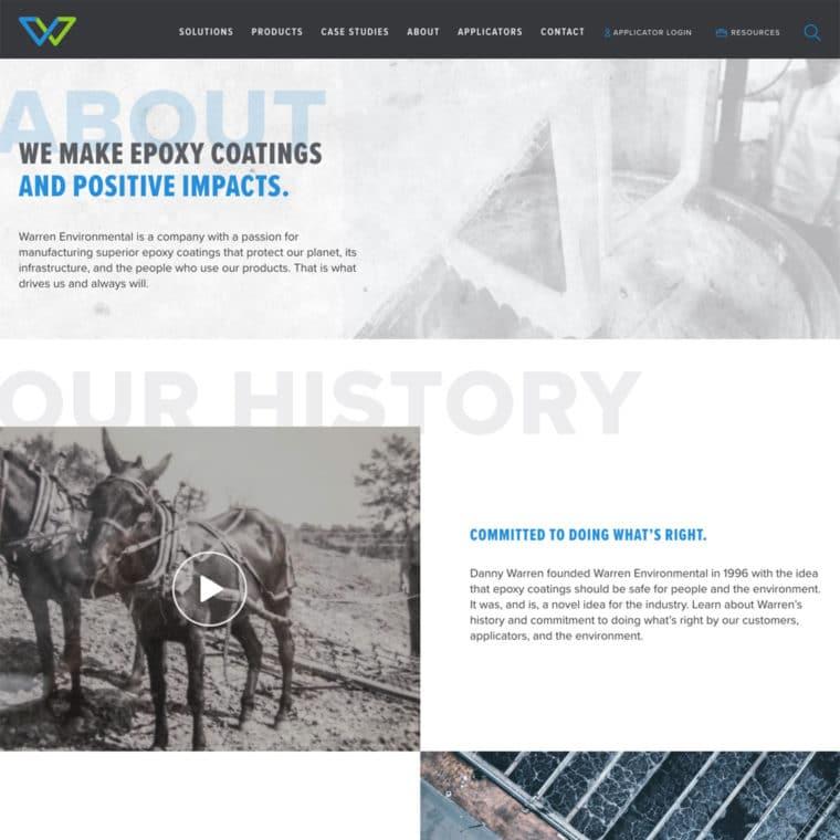 Warren Environmental About page