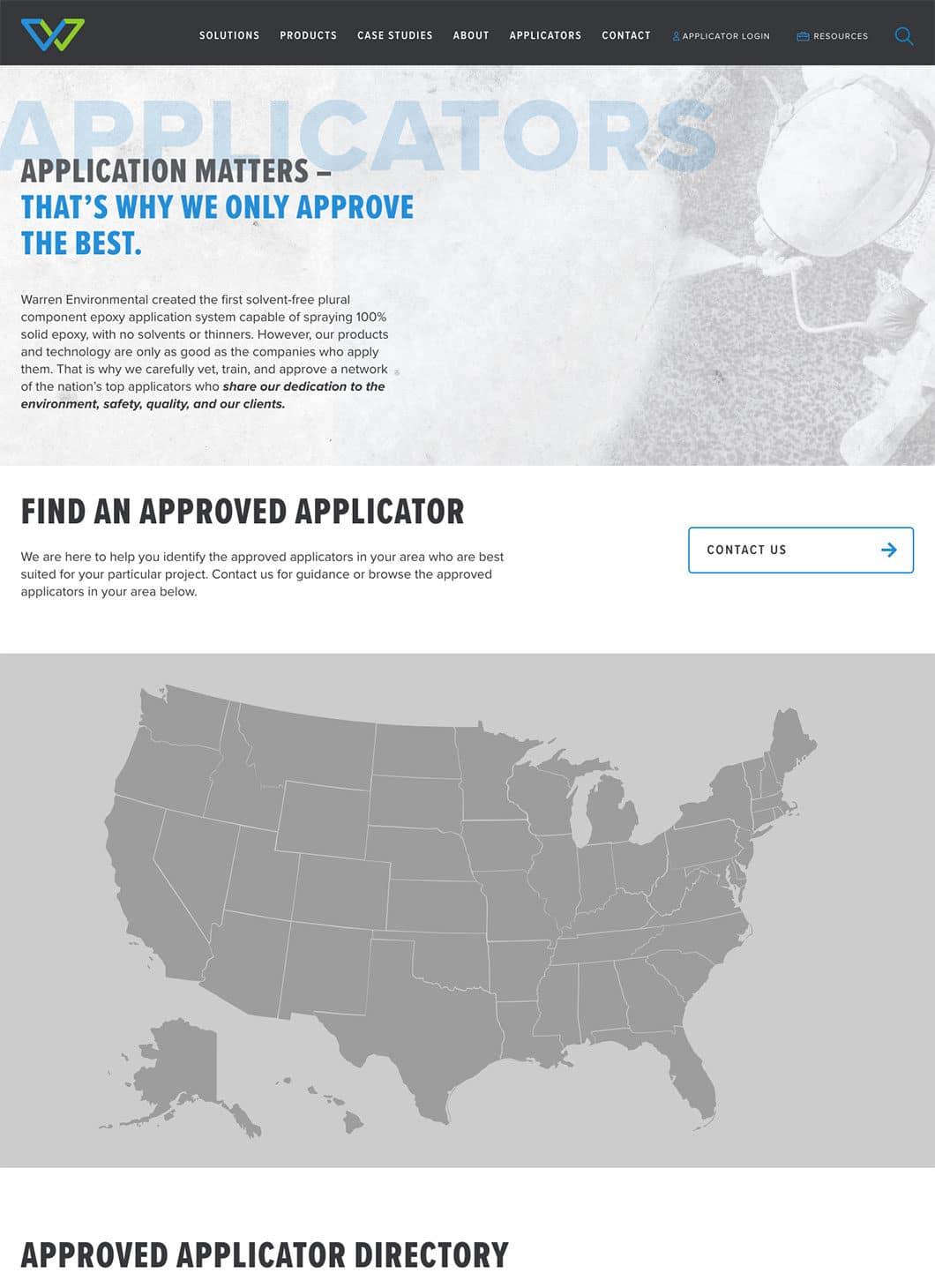 Warren Environmental Applicators screenshot