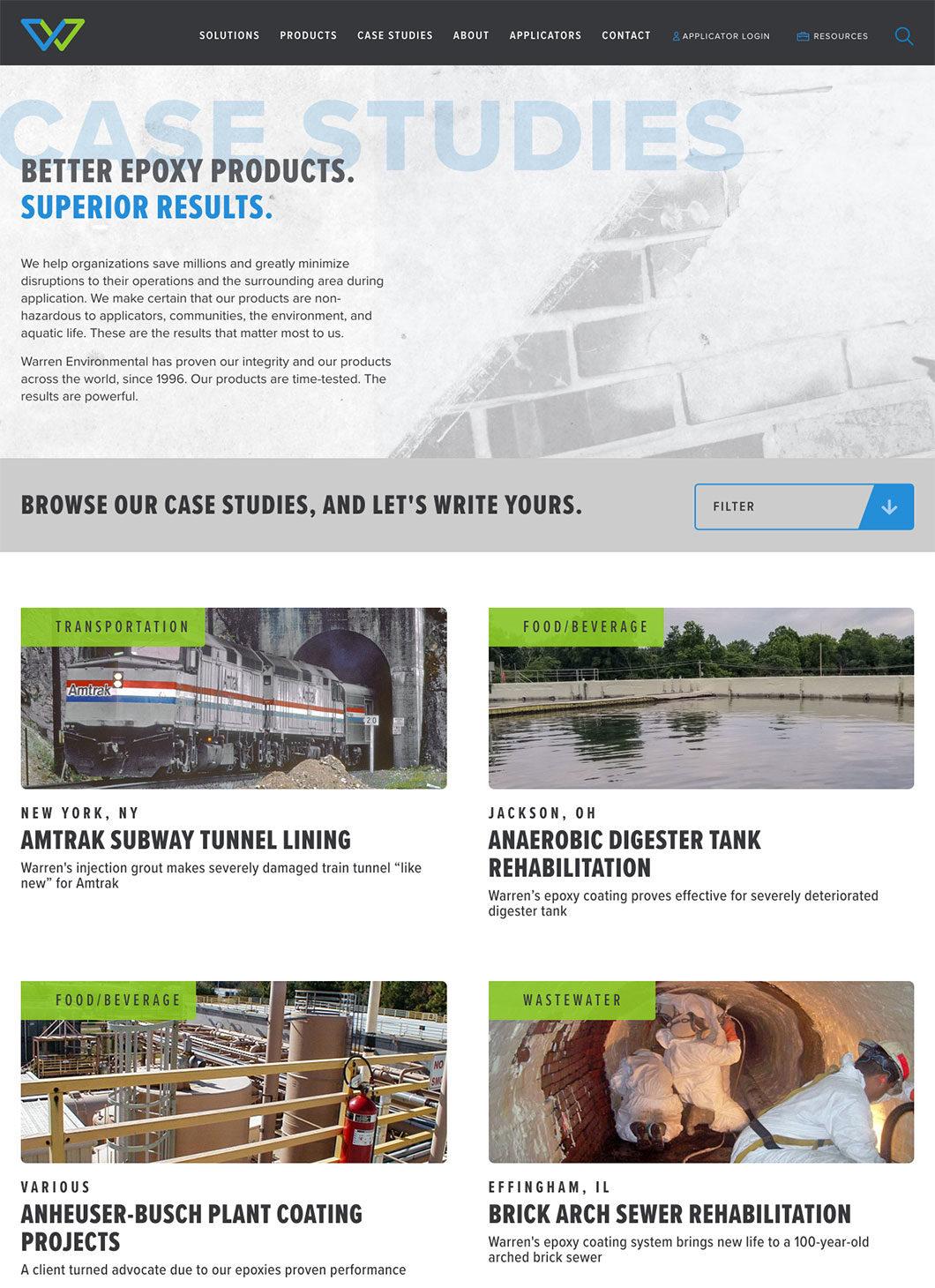 Warren Environmental Case Studies screenshot