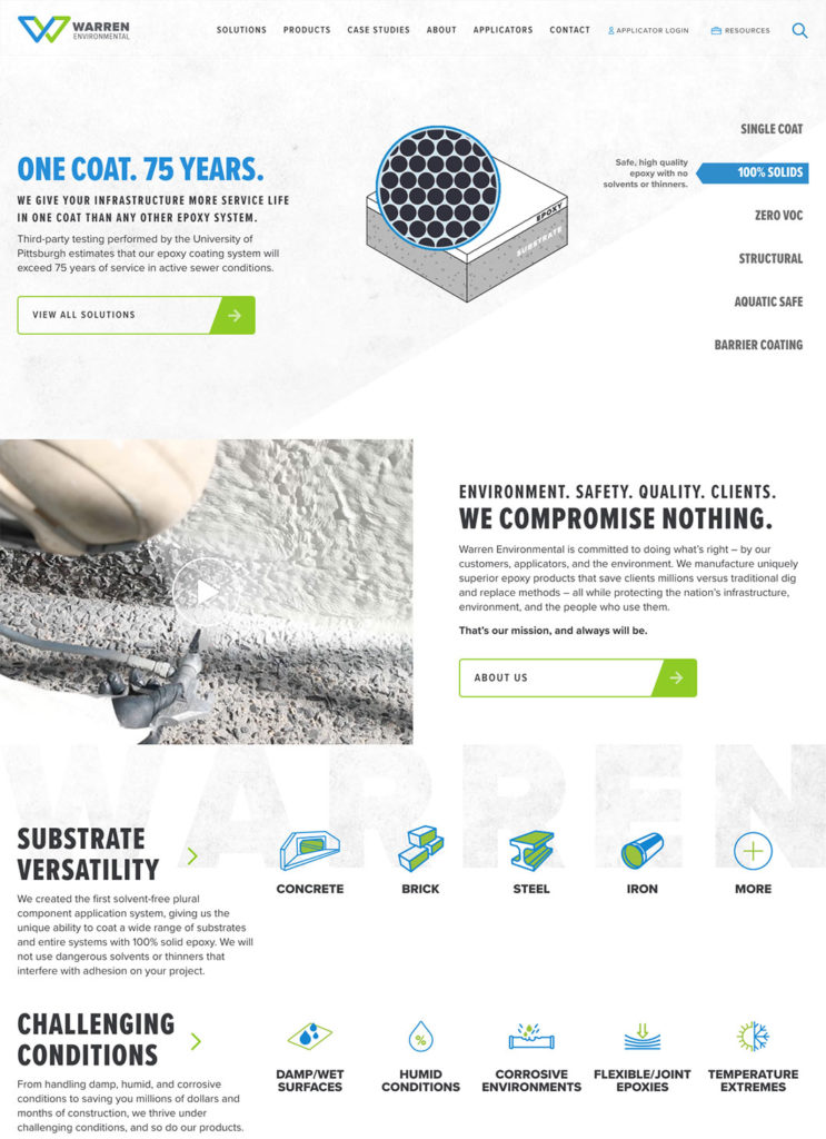 Warren Environmental homepage screenshot